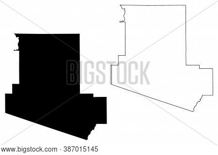 Carroll County, Mississippi (u.s. County, United States Of America, Usa, U.s., Us) Map Vector Illust