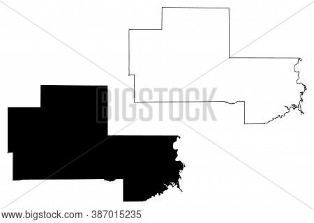 Clay County, Mississippi (u.s. County, United States Of America, Usa, U.s., Us) Map Vector Illustrat