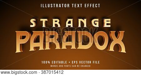 Editable Text Style Effect - Paradox Theme Style.