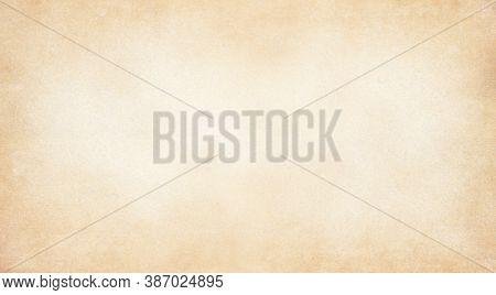 Pale Brown Vintage Paper Texture Background, Kraft Paper Horizontal With Unique Design Of Paper, Sof