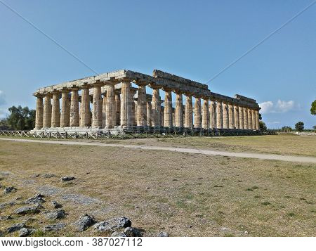 First Temple Of Hera In Paestum, Campania, Italy