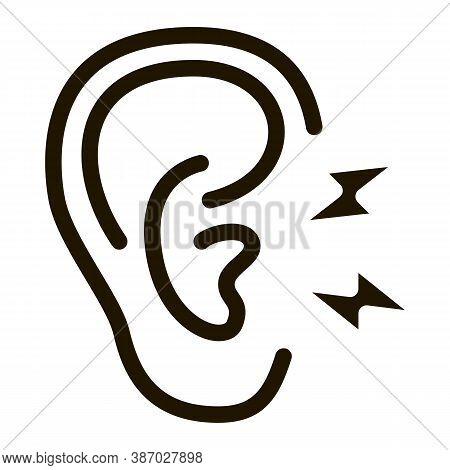 Earache Glyph Icon Vector. Earache Sign. Isolated Symbol Illustration