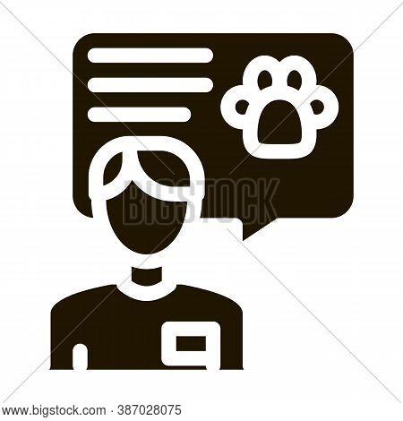 Veterinarian Glyph Icon Vector. Veterinarian Sign. Isolated Symbol Illustration