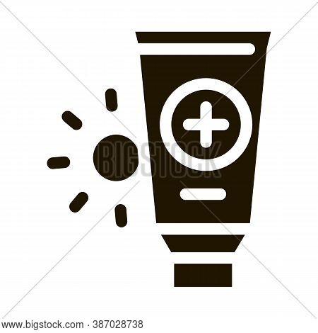 Solar Healthcare Gel Glyph Icon Vector. Solar Healthcare Gel Sign. Isolated Symbol Illustration
