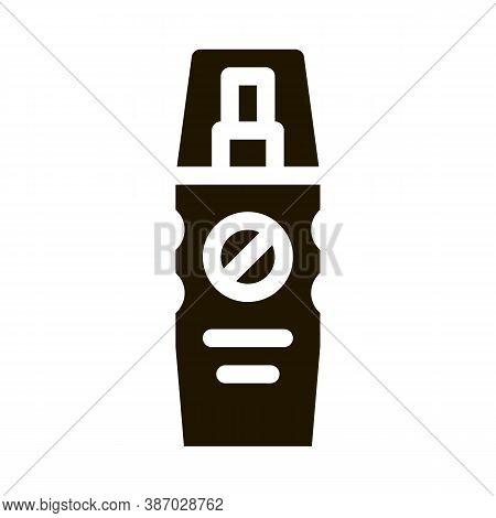 Cosmetic Healthcare Gel Glyph Icon Vector. Cosmetic Healthcare Gel Sign. Isolated Symbol Illustratio