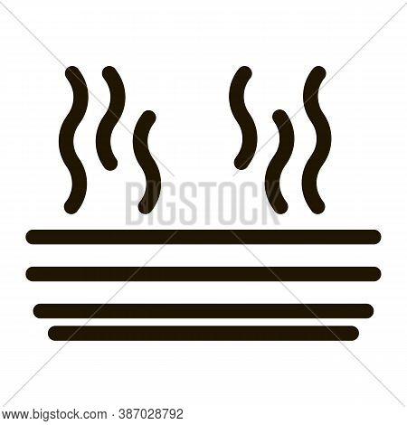 Evaporation Glyph Icon Vector. Evaporation Sign. Isolated Symbol Illustration