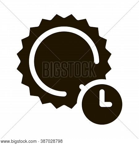Sunburn Glyph Icon Vector. Sunburn Sign. Isolated Symbol Illustration