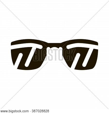 Sunglasses Glyph Icon Vector. Sunglasses Sign. Isolated Symbol Illustration