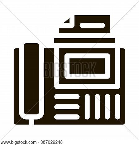Fax Glyph Icon Vector. Fax Sign. Isolated Symbol Illustration