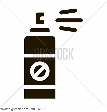 Chemical Aerosol Glyph Icon Vector. Chemical Aerosol Sign. Isolated Symbol Illustration