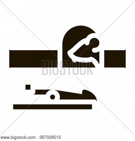 Mousetrap Glyph Icon Vector. Mousetrap Sign. Isolated Symbol Illustration