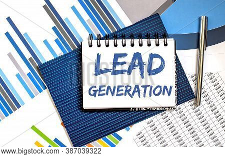 Lead Generation Text On The Notepad. Business Concept