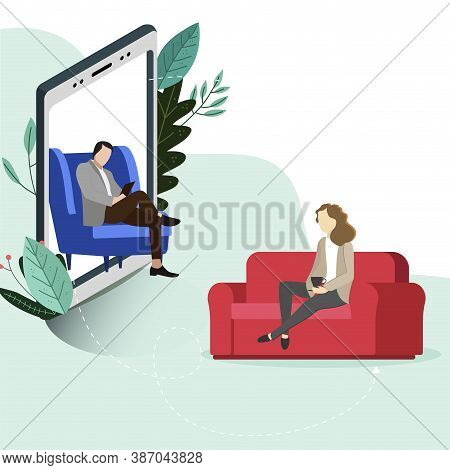 Psychotherapy Online, Helpline Depression, Conversation Consulting And Psychological Help. Mental We