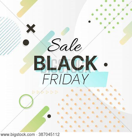 Black Friday Sale Concept With Flat Design Background. Vector.