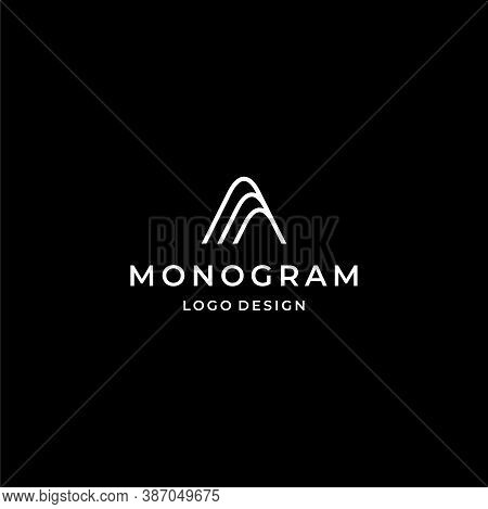 Simple And Fancy Logo, Letter A. Beauty And Fashion Business. Eps10, Vector.