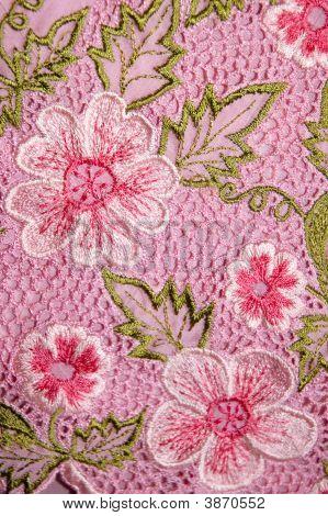 Kebaya Floral rosa