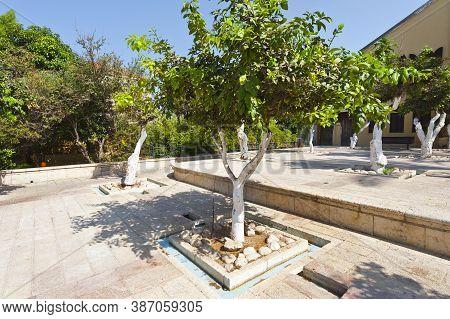 Courtyard In The Historic Center Of Tel Aviv In Israel