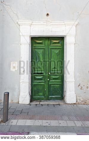 The Old Wooden Door In Tel Aviv