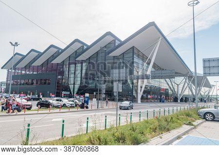 Gdansk, Poland - June 18, 2020: Gdansk Lech Walesa Airport (polish: Port Lotniczy Gdansk Im. Lecha W