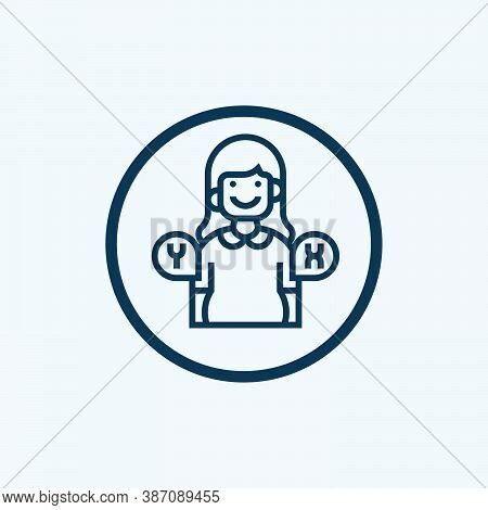 Pregnancy Icon Isolated On White Background From Women Health Collection. Pregnancy Icon Trendy And