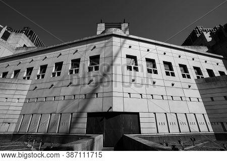 London / Uk -  2020.07.18:  The Secret Intelligence Service Building, Mi6, Designed By Terry Farrell