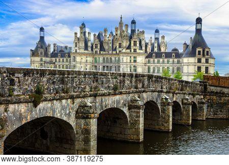 Chambord castle -  masterpiece of Renaissance architecture. Famous Loire valley in France