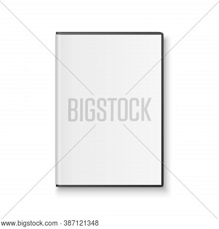 Vector 3d Realistic Cd, Dvd Cover Box Closeup Isolated On White Background. Design Template For Mock