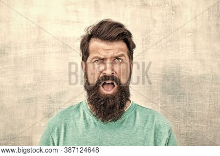 Wondering What. Hipster Appearance. Man Bearded Hipster Stylish Beard. Stylish Beard And Mustache Ca