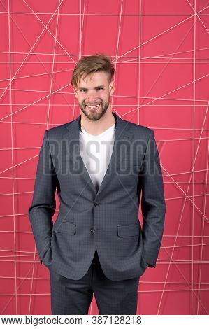 Sexy Man In Stylish Jacket. Business Fashion And Dress Code. Confident Businessman In Suit. Business