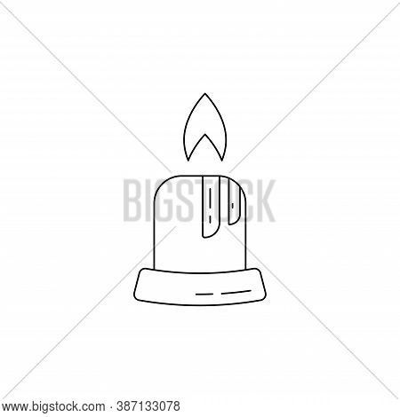 Candle Vector Icon In Trendy Flat Style, Christmas Candle Icon