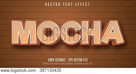 Mocha Text, Cartoon Style Editable Text Effect