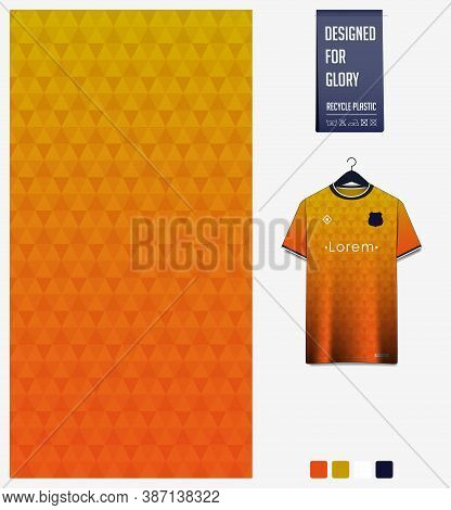 Geometry Pattern On Yellow Gradient Background For Soccer Jersey, Football Kit, Bicycle, E-sport, Ba