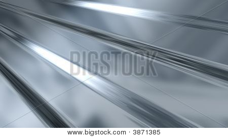 Corrugated Sheet Metal Reflecting Light