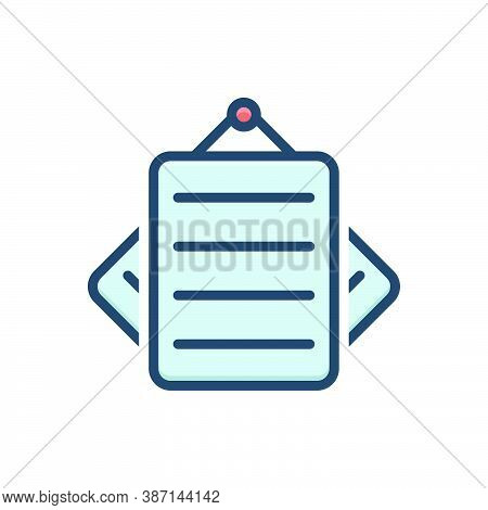 Color Illustration Icon For Notes Paper Notepaper Remember Concept Document Stationery