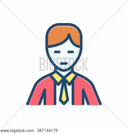 Color Illustration Icon For People Human-beings Individuals Man Adult Human