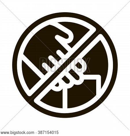 Shoplifting Prohibition Glyph Icon Vector. Shoplifting Prohibition Sign. Isolated Symbol Illustratio
