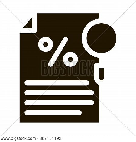 Study Of Interest Related Documentation Glyph Icon Vector. Study Of Interest Related Documentation S