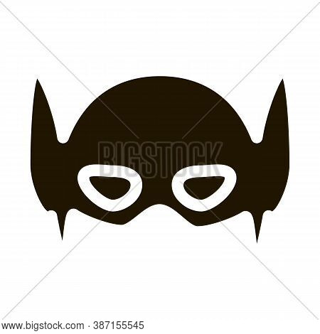 Super Hero Mask Glyph Icon Vector. Super Hero Mask Sign. Isolated Symbol Illustration
