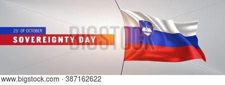 Slovenia Happy Sovereignty Day Greeting Card, Banner Vector Illustration