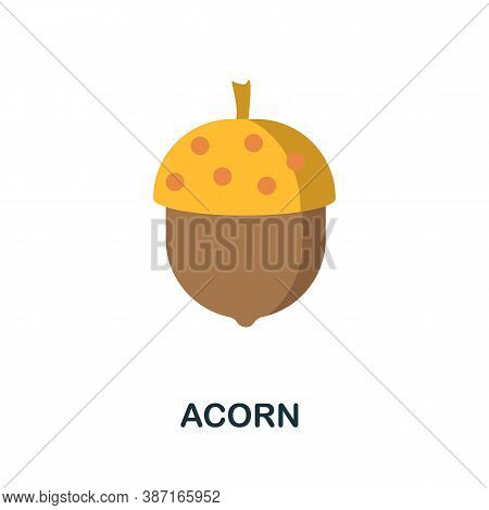 Acorn Icon. Simple Element From Autumn Collection. Creative Acorn Icon For Web Design, Templates, In