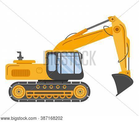 Construction Track Bulldozer Backhoe Dipper. Hydraulic Excavators.