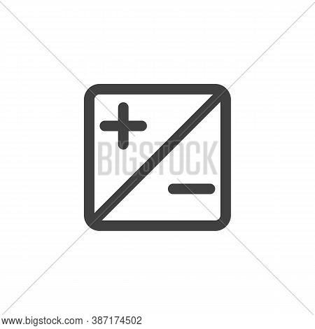 Exposure Up And Down Line Icon. Plus And Minus Linear Style Sign For Mobile Concept And Web Design.