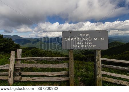 The Gray Beard Mountain Overlook On The Blue Ridge Parkway. The Blue Ridge Parkway Is The Most Visit