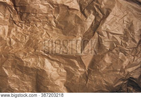 Kraft Paper Texture For Wrapping. Kraft Paper Texture Background. Crumpled Brown Paper Texture Backg