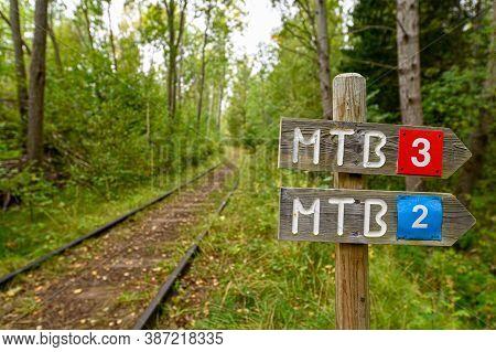 Old Train Tracks Working As Mtb Trail In Kumla Sweden