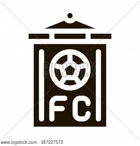 Soccer Command Flag Glyph Icon Vector. Soccer Command Flag Sign. Isolated Symbol Illustration