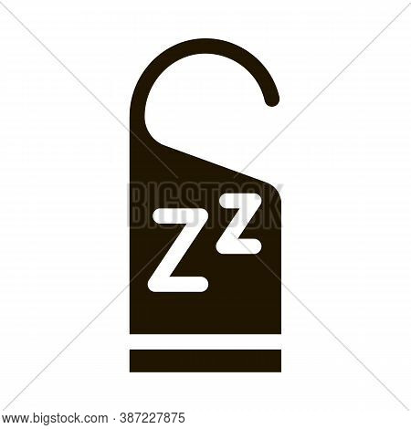 Hotel Handle Label Zzz Glyph Icon Vector. Hotel Handle Label Zzz Sign. Isolated Symbol Illustration