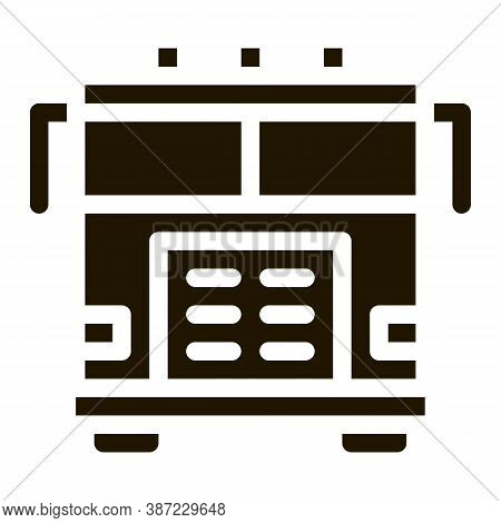 Fire Department Truck Glyph Icon Vector. Fire Department Truck Sign. Isolated Symbol Illustration