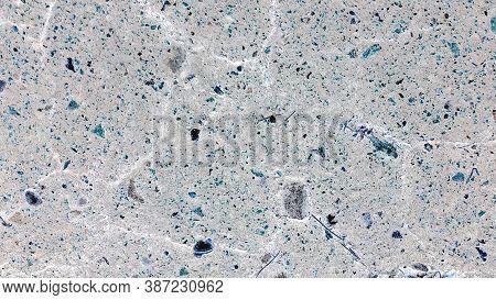 Street Crack. Horizontal Abstract Closeup. Bitumen Highway. Gray Surreal Concept. Gunmetal Grey Land