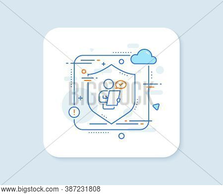 Customer Survey Line Icon. Abstract Vector Button. Contract Application Sign. Agreement Document Sym
